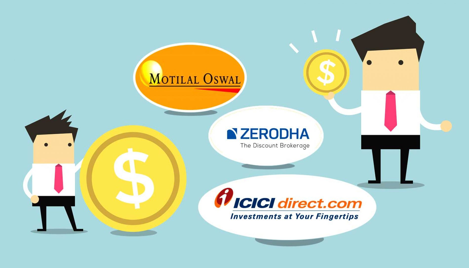 Compare Zerodha No.1 firm and Top 3 Brokerage Firms in India and here is the best one